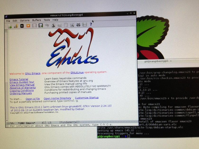 설치 완료된 emacs
